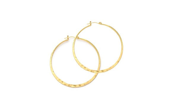 Hammered Hoops - OS / Gold ShopatGrace.com