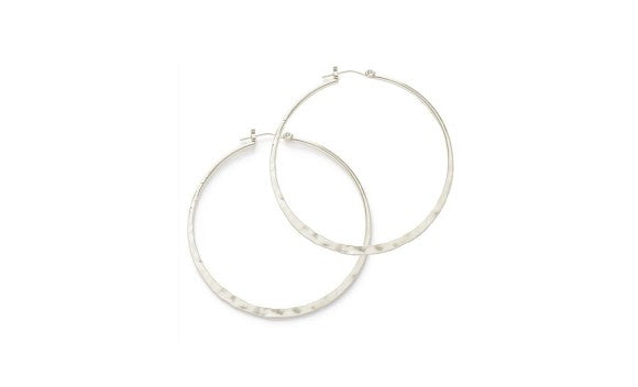 Hammered Hoops - OS / Silver ShopatGrace.com