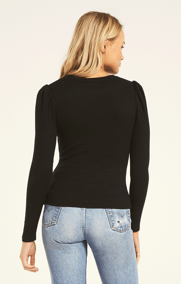 Kaiya Rib Long sleeve Top -  ShopatGrace.com