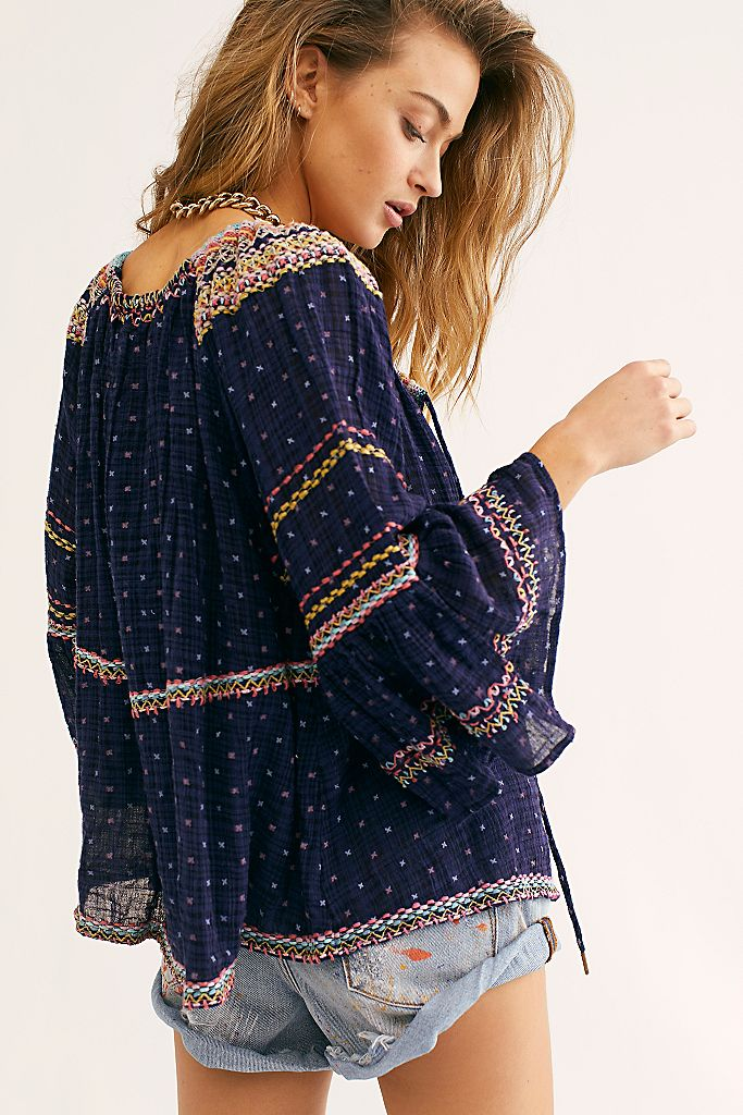 Talia Embroidered Blouse