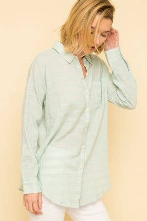 Crinkle Button Down Shirt -  ShopatGrace.com