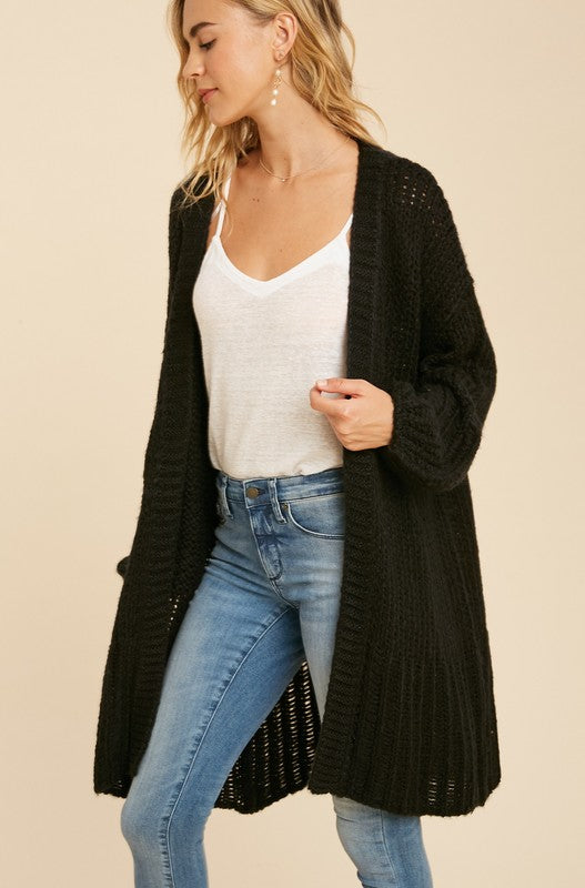 Oversized Knit Log Cardigan -  ShopatGrace.com