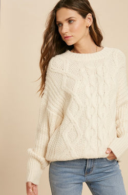 Fisherman Sweater -  ShopatGrace.com