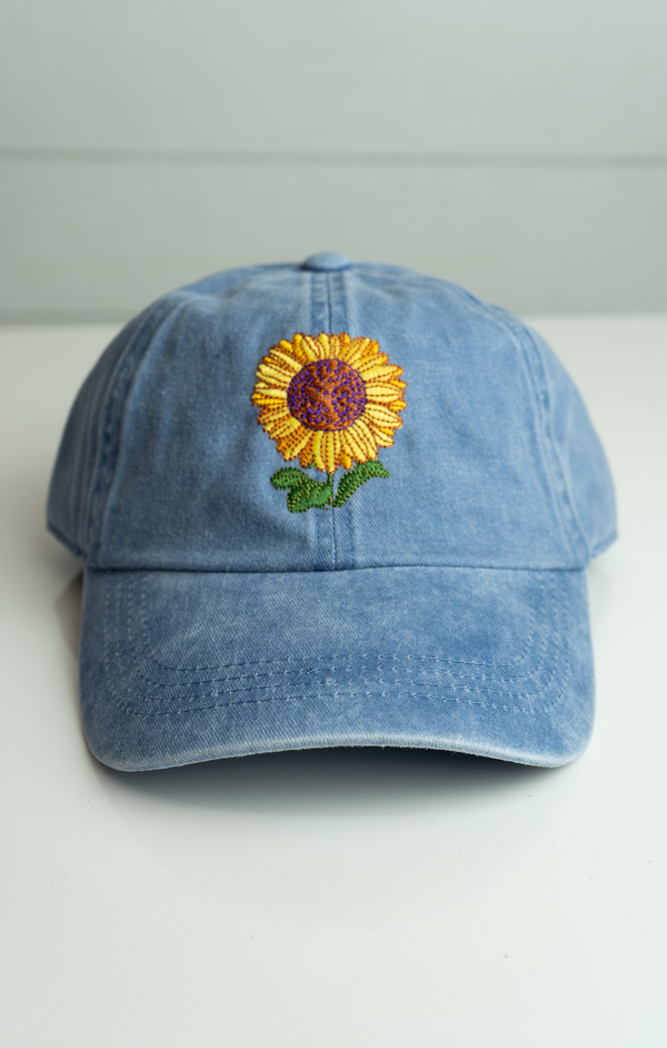 Sunflower Embroidered Dad Cap -  ShopatGrace.com