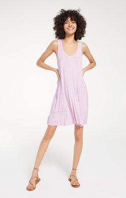 Bay V-Neck Dress - XS / Pink Lavender ShopatGrace.com