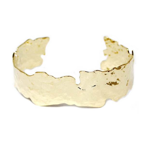 Ripped Metal Cuff Bracelet - Large / Gold ShopatGrace.com