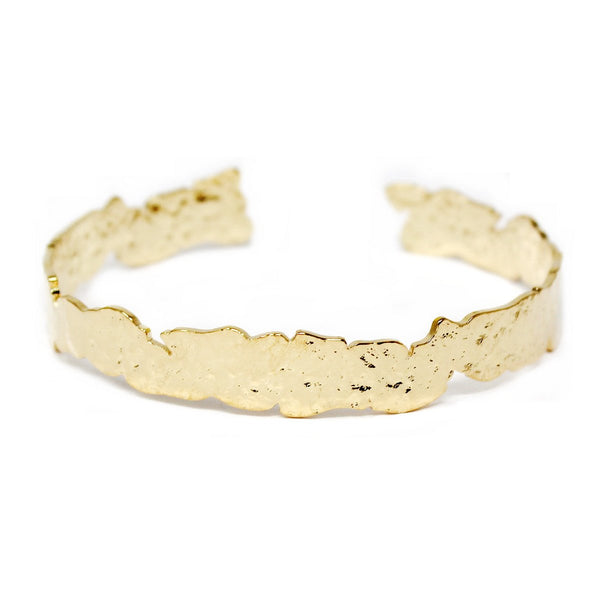 Ripped Metal Cuff Bracelet - Small / Gold ShopatGrace.com