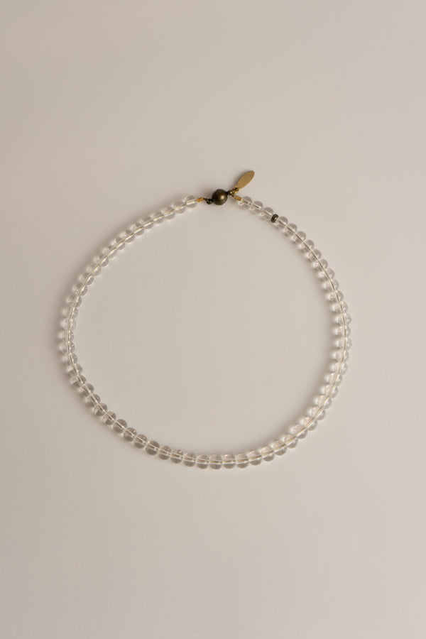 Beaded Collar Necklace - Clear Quartz ShopatGrace.com