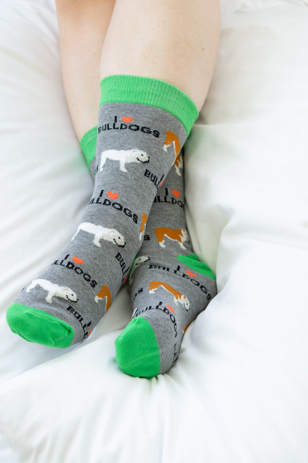 English Bulldog Socks -  ShopatGrace.com