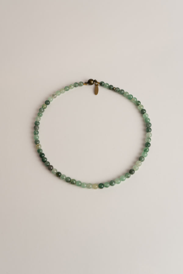 Beaded Collar Necklace - Green Quartz ShopatGrace.com