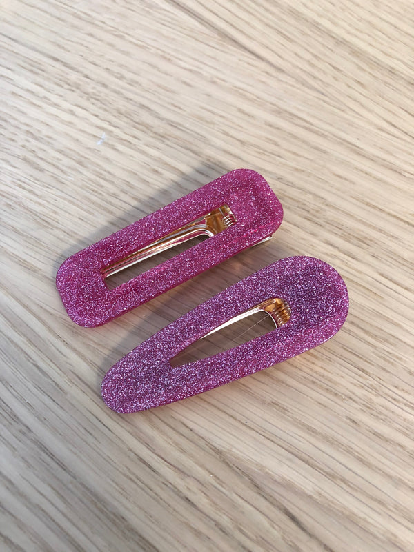 Acetate Clip Set - Hot Pink -  ShopatGrace.com