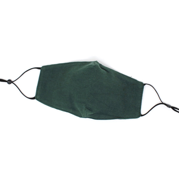 Solid Cotton Flannel Adult Mask - OS / Green ShopatGrace.com