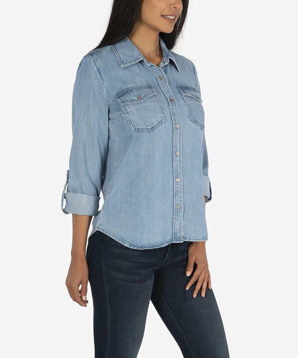 Brielle Button Down Shirt -  ShopatGrace.com