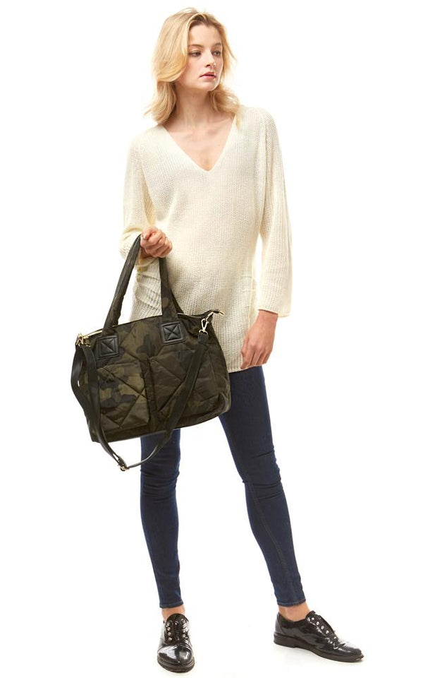 Camouflage Puffer Tote & Crossbody Bag -  ShopatGrace.com