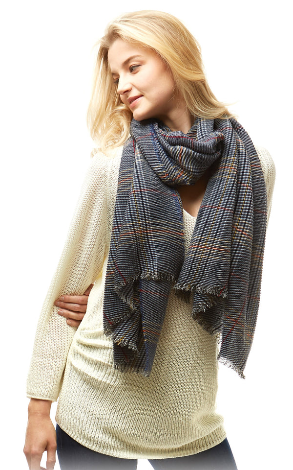 Plaid Oblong Scarf -  ShopatGrace.com