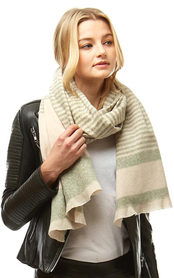 Striped Boucle Oblong Scarf -  ShopatGrace.com