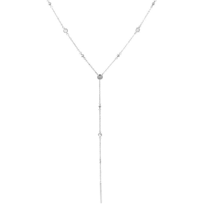Metal Bar Drop Y Necklace -  ShopatGrace.com