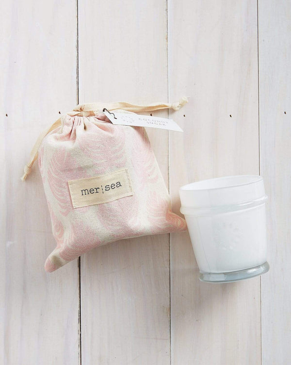 Coconut Sugar Print Bag Candle -  ShopatGrace.com