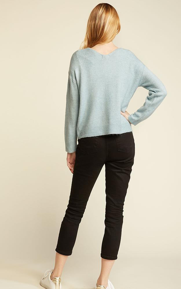 Basic V-Neck Sweater -  ShopatGrace.com