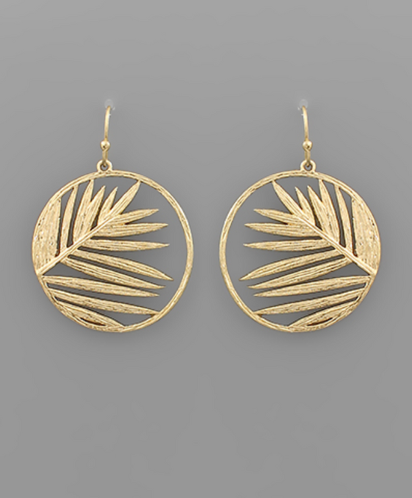 Palm Hoop Earrings - GOLD / OS ShopatGrace.com