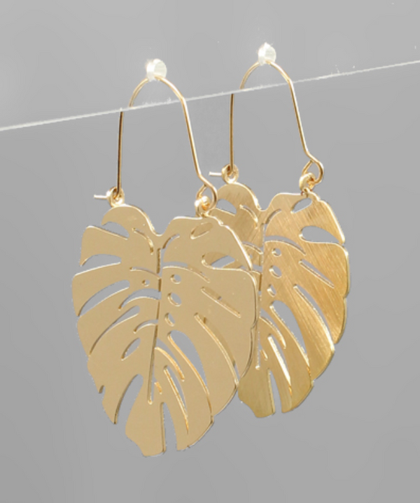 Leaf Earrings - GOLD / OS ShopatGrace.com