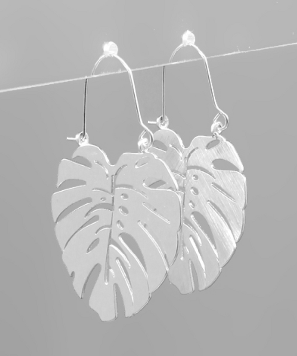 Leaf Earrings - SILVER / OS ShopatGrace.com
