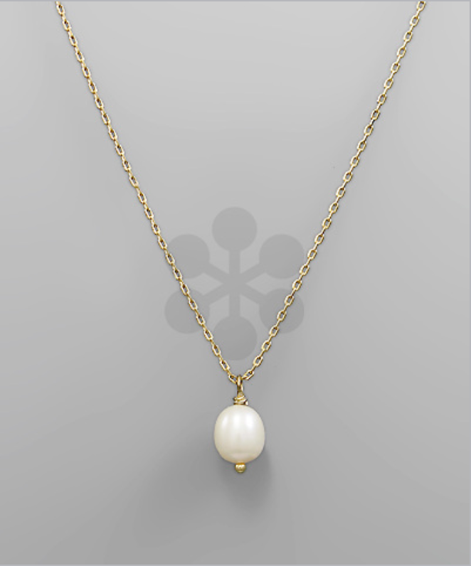 Pearl Drop Necklace -  ShopatGrace.com