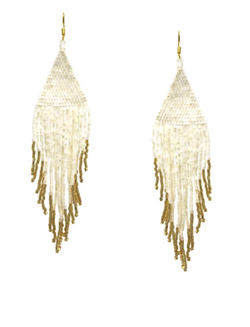 Beaded Fringe Drop Earrings -  ShopatGrace.com