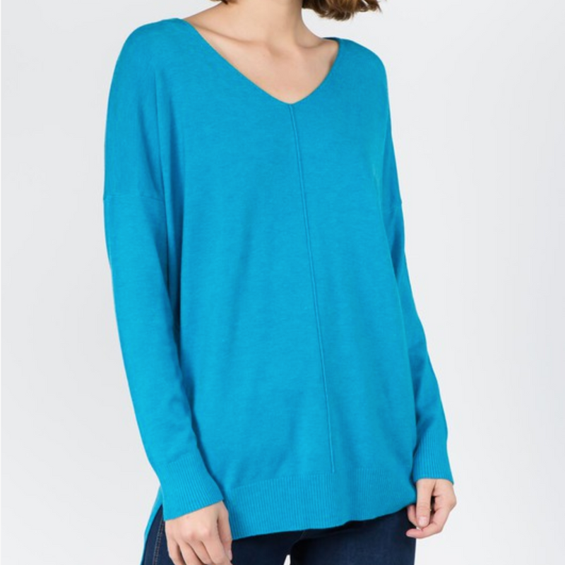 Favorite Cozy Sweater - Turquoise / S/M ShopatGrace.com