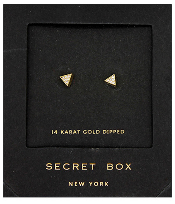 Pave Triangle Studs - Gold ShopatGrace.com