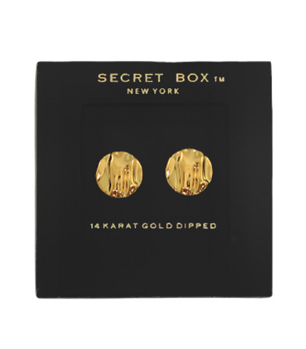 Textured Disc Studs - Gold ShopatGrace.com