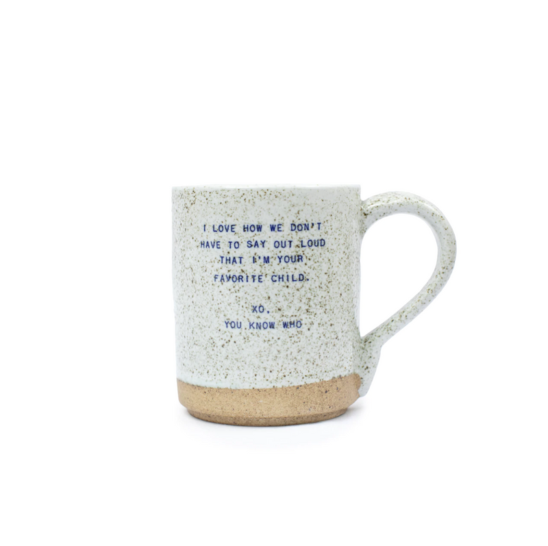 XO mugs - Family & Friends - FAVORITE CHILD / OS ShopatGrace.com