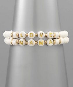 White Beaded Bracelets -  ShopatGrace.com
