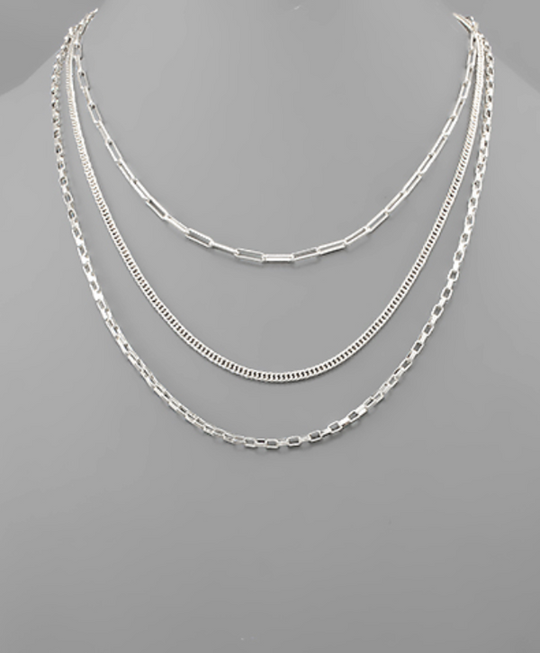 Multi Chain Layer Necklace -  ShopatGrace.com