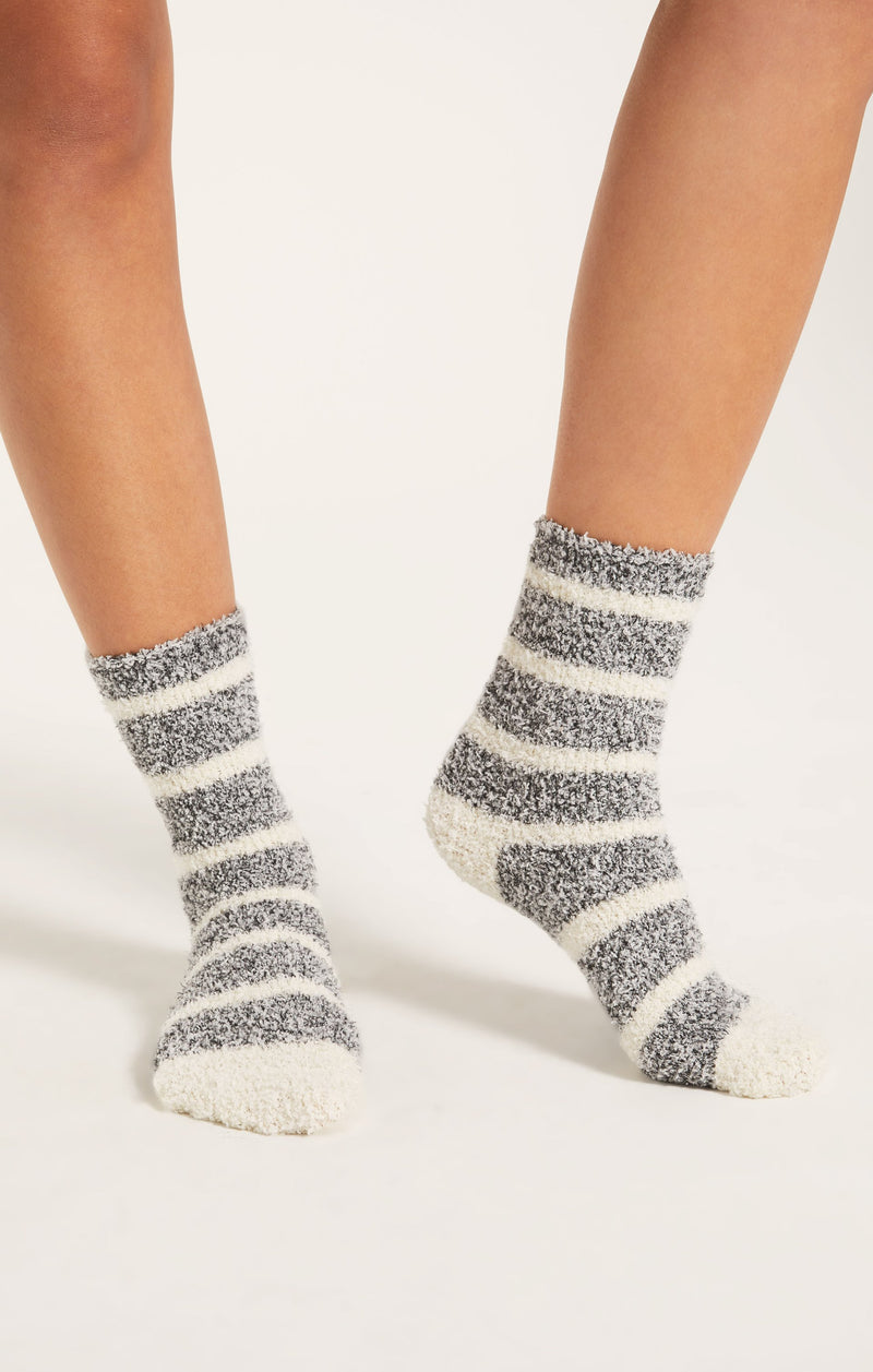 Stripe Plush Socks -  ShopatGrace.com