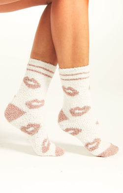 Lip Plush Socks -  ShopatGrace.com