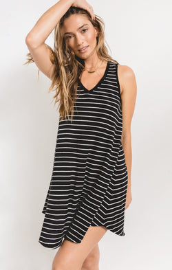The Yuma Striped Linen Breezy Dress -  ShopatGrace.com