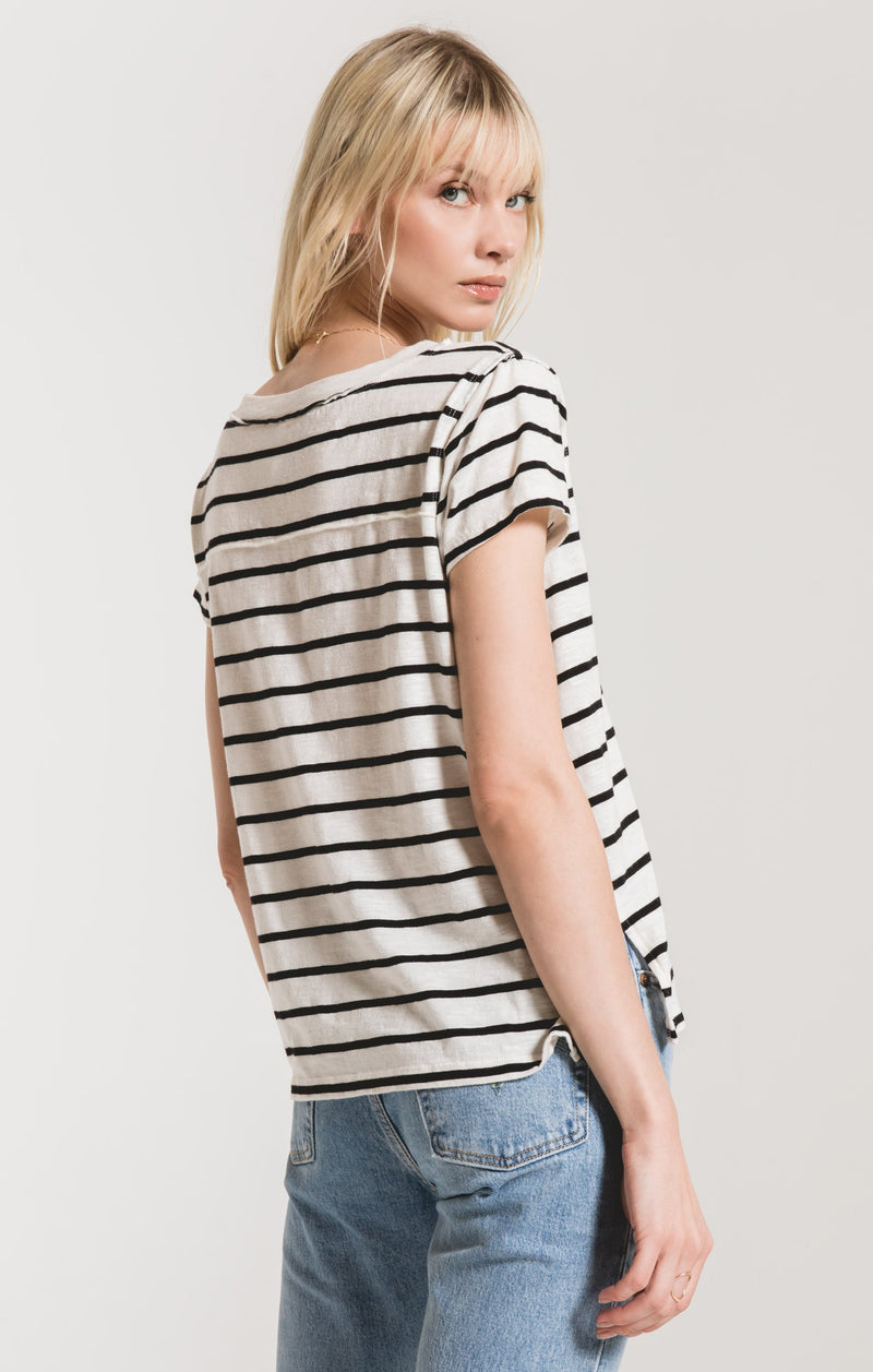 The Desert Stripe V-Neck Tee -  ShopatGrace.com