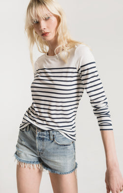 Fiore Stripe Long Sleeve Tee