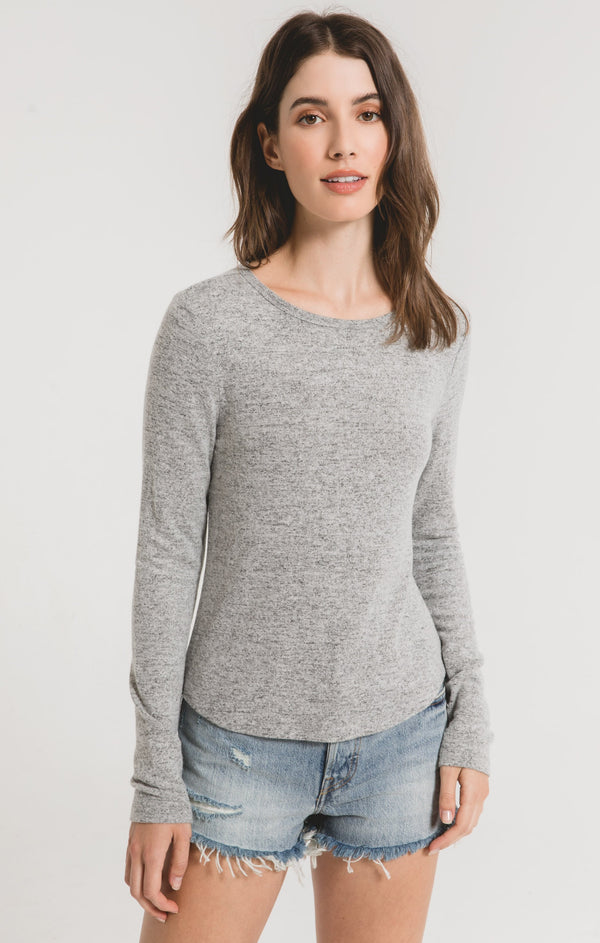 The Marled Long Sleeve Top
