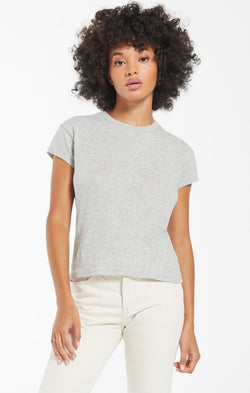 Modern Slub Tee - HEATHER GREY / XS ShopatGrace.com