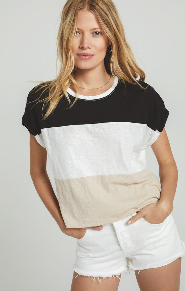 Napali Striped Tee - BLACK / XS ShopatGrace.com