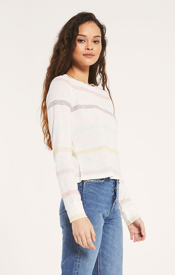 Aspen Stripe Long Sleeve Crew -  ShopatGrace.com