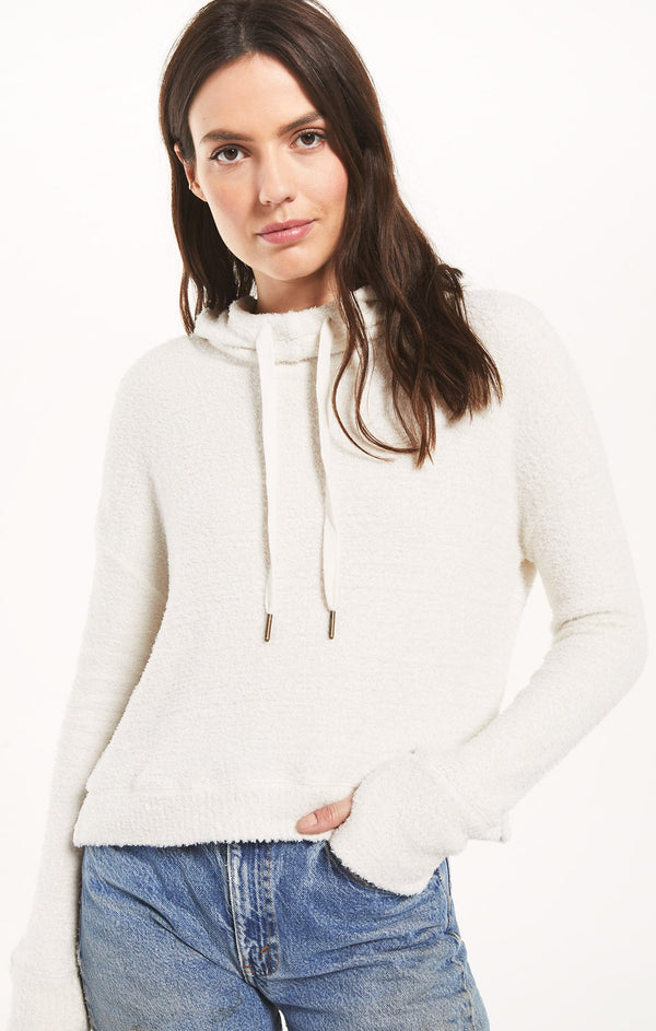 Kacey Feather Hoodie - XS / BONE ShopatGrace.com