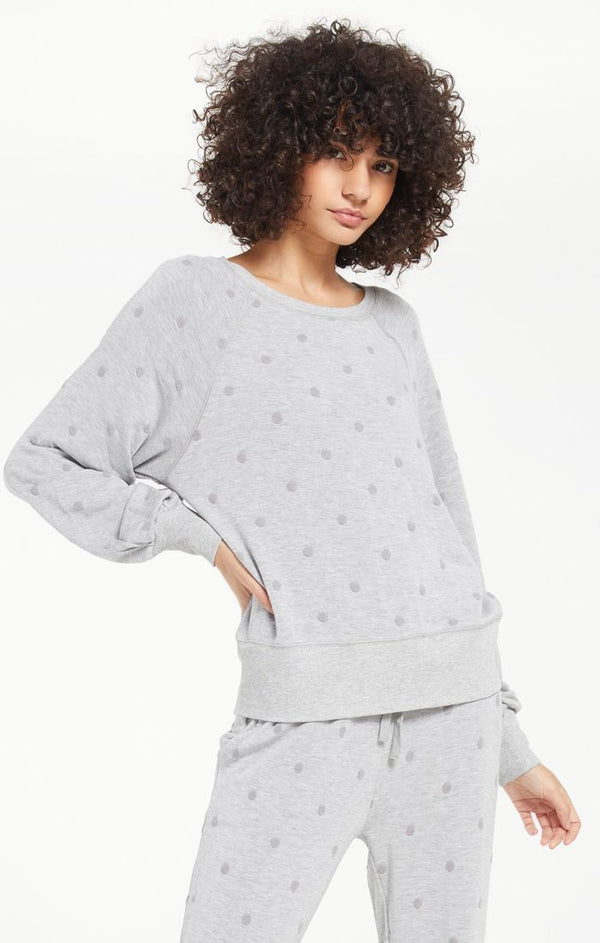 Brook Dot Long sleeve Top -  ShopatGrace.com