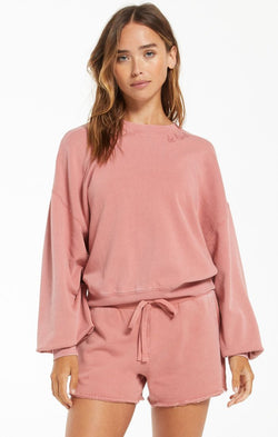 Lia Washed Top - XS / DUSTY ROSE ShopatGrace.com