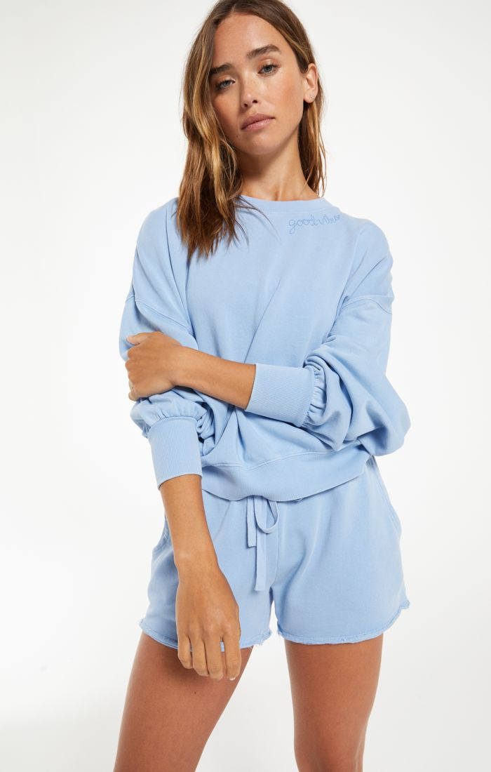 Lia Washed Top - XS / PERENNIAL BLUE ShopatGrace.com