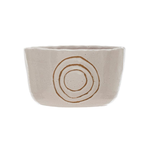 Terra-cotta Planter with Engraved Circles -  ShopatGrace.com