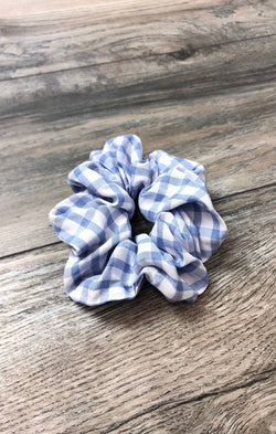 Gingham Scrunchie - Lt. Blue ShopatGrace.com