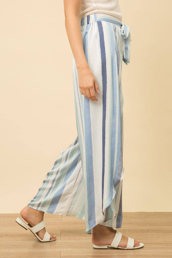 Overlapped Multi Stripe Coulotte -  ShopatGrace.com
